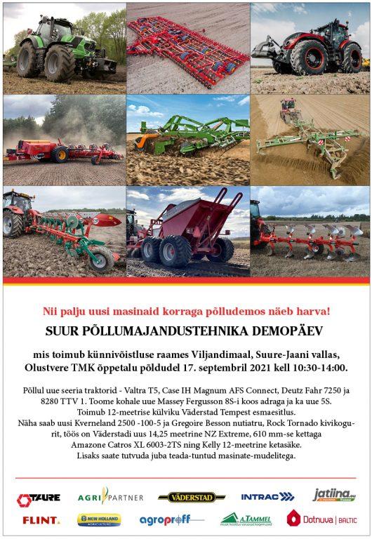 Suur põllumajandustehnika demopäev Olustveres